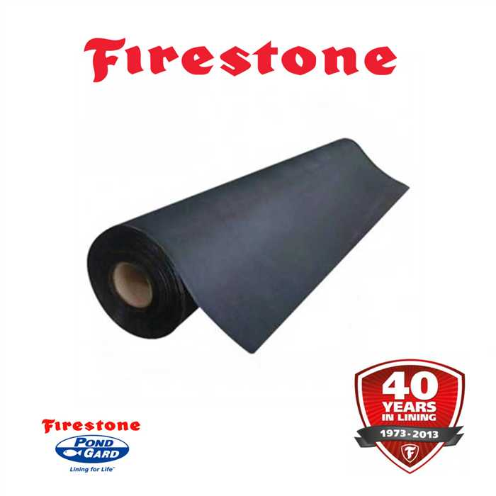 Aquiflor bache epdm firestone pondgard m large for Bache etang firestone prix