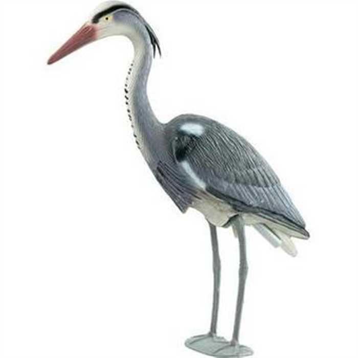aquiflor figurine pour bassin heron cendr. Black Bedroom Furniture Sets. Home Design Ideas