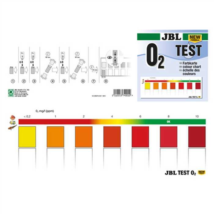 Aquiflor Jbl O2 Oxygène Test Set New Formula