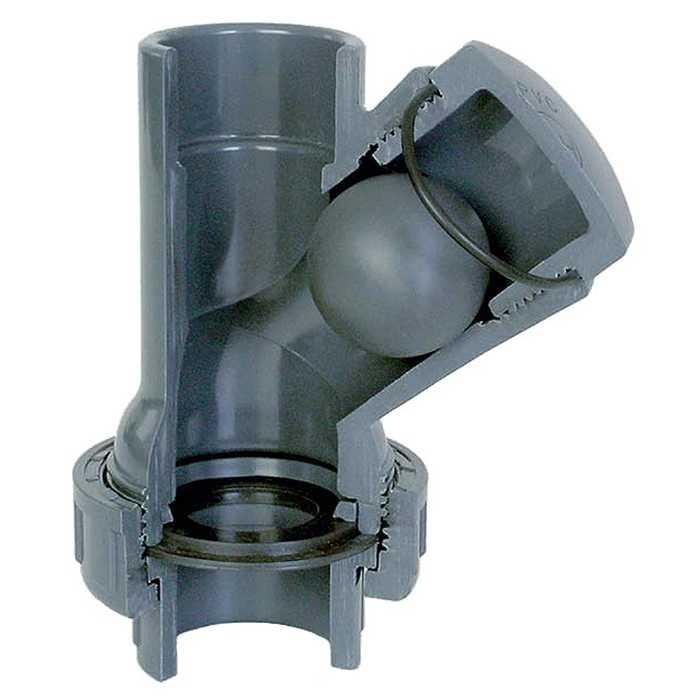 aquiflor pvc 50mm balle clapet anti retour y type. Black Bedroom Furniture Sets. Home Design Ideas
