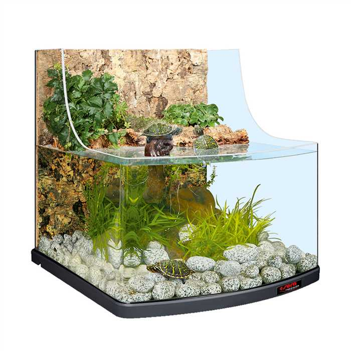 Aquiflor sera reptil aqua biotop aquarium pour tortue 80l for Aquarium tortue