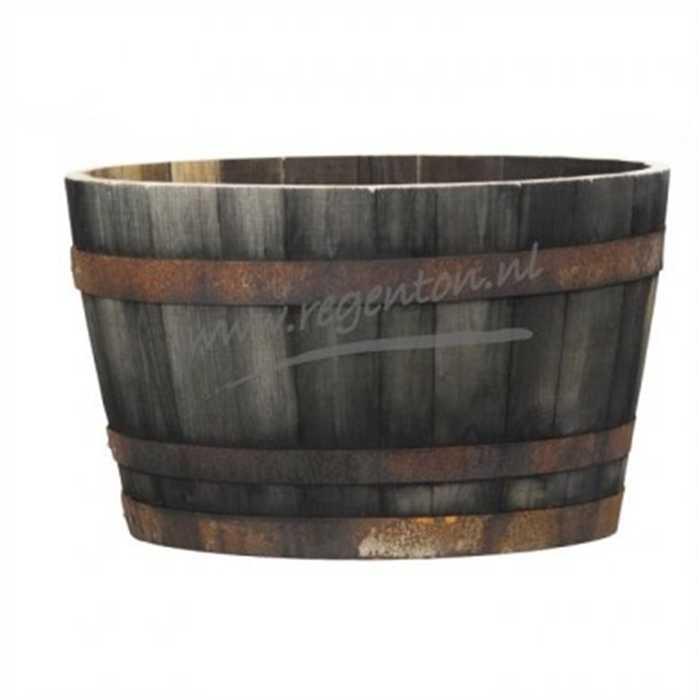 aquiflor tonneau bois ancien 1093 1 2 200l 40x65cm. Black Bedroom Furniture Sets. Home Design Ideas